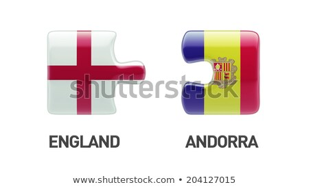 European Union and Andorra Flags in puzzle  isolated on white ba Stock photo © Istanbul2009