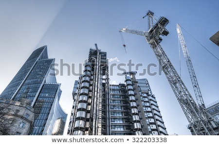 Inşaat gökdelen iş çalışmak kentsel sanayi Stok fotoğraf © ivz