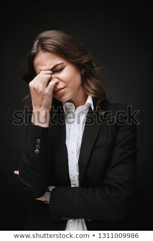 Jeunes femme d'affaires maux de tête bureau santé Photo stock © wavebreak_media