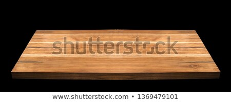 Empty wooden table top for product placement with white backgrou Stock photo © happydancing