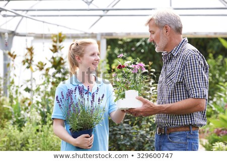 Male Customer Asking Staff For Plant Advice At Garden Center Stock photo © HighwayStarz