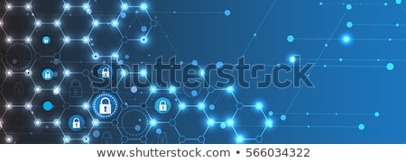 Security conception, modern network symbols concept Stock photo © JanPietruszka