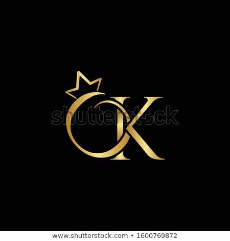 Gems K letter. Shiny diamond font. Stock photo © logoff