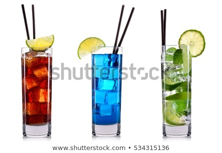 Isolated red and green cocktails Stock photo © shutswis