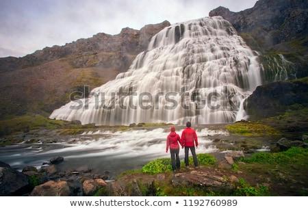 Dynjandi waterfalls in Iceland Stock photo © Hofmeester