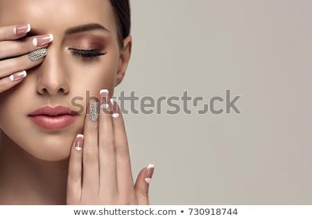 French manicure and nail polisher Stock photo © jordanrusev