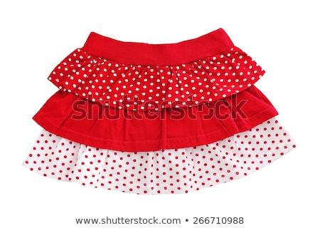 Nő visel rövid mini vörös ruha izolált Stock fotó © Elnur