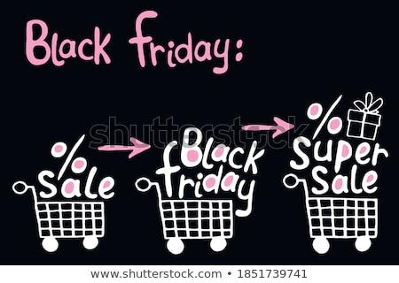 Black friday carrinho de compras bandeira venda texto Foto stock © marinini