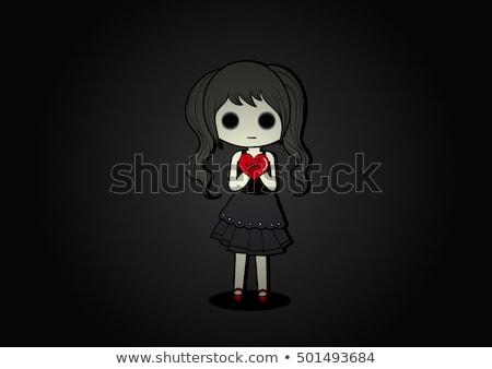 emo girl illustration stock photo © morphart