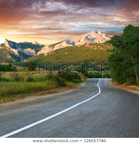 Road on a mountain on a cloudy summer day Stock photo © Lizard