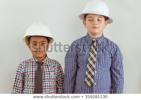 Two young aspiring tween engineers Stock photo © ozgur