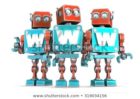 Retro robot www segno tecnologia isolato Foto d'archivio © Kirill_M