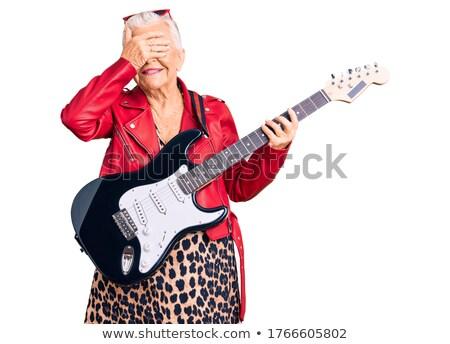 Cieco espressiva chitarrista bianco faccia Foto d'archivio © Elisanth