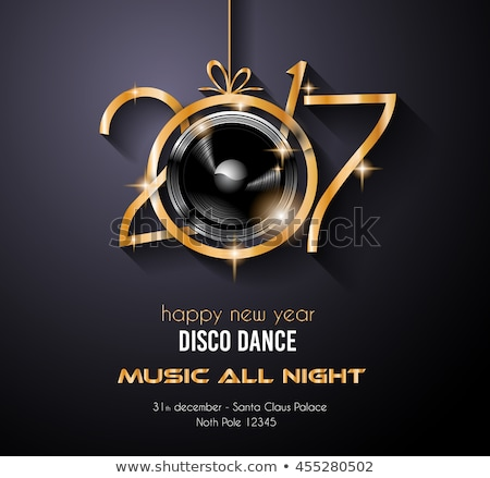 2017 Happy New Year Disco Party Background for your Flyers  Stock photo © DavidArts