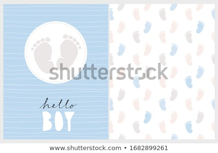 delicate baby shower card Stock photo © balasoiu