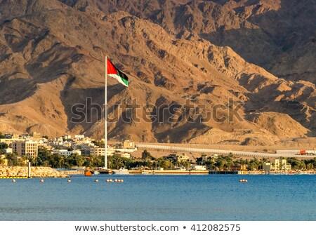 Jordânia bandeira praia céu verão oceano Foto stock © zurijeta