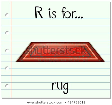 Flashcard letter R is for rug Stock photo © bluering