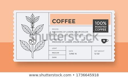 caffè · retro · vintage · etichette · logo · design - foto d'archivio © genestro