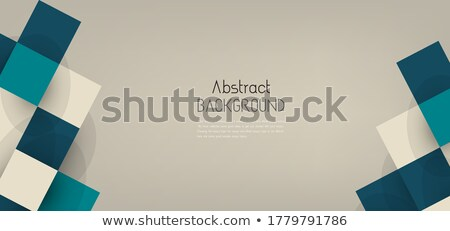 clean business brochure template with blue mosaic shapes Stock photo © SArts
