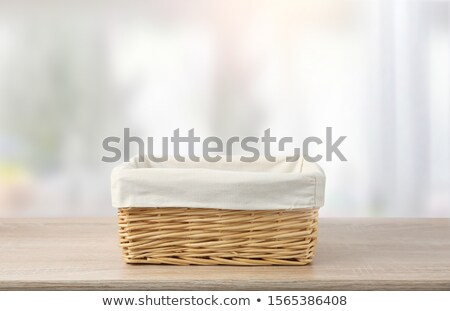 декоративный плетеный таблице корзины хлеб конфеты Сток-фото © Digifoodstock