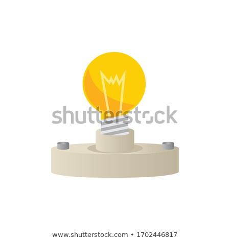 Illustrazione lampadina presa isolato bianco illustrazione 3d Foto d'archivio © tussik