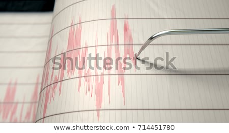 Terremoto relógio palavra Foto stock © devon
