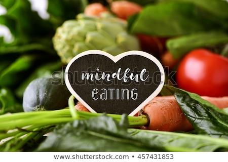 Groene rauw voedsel bericht eten gras gezondheid Stockfoto © Tefi