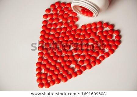 人間 · シルエット · 明るい · 赤 · 男 · 医療 - ストックフォト © tefi