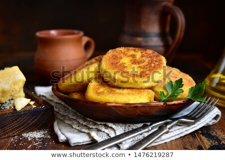 Stock photo: vegetable and cheese patties