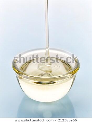 Ciotola zucchero sciroppo vetro Foto d'archivio © Digifoodstock