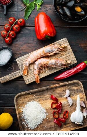 raw ingredients for paella stock photo © zhekos