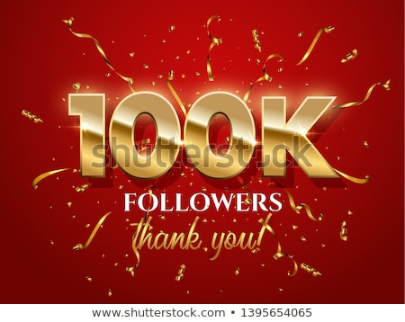 100k followers achievement in social media Stock photo © SArts