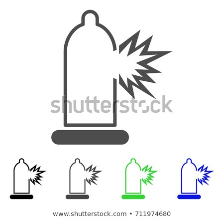 condom infection damage flat vector icon stock photo © ahasoft