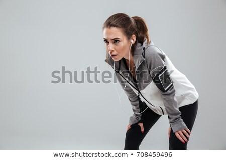 устал женщины Runner одежды студию Сток-фото © deandrobot