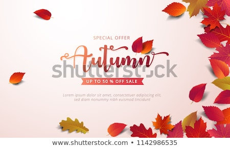 abstract sale discount voucher design with warm colors Stock photo © SArts