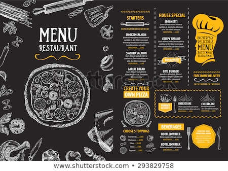 voedsel · restaurant · menu · ontwerp · violet · bestek - stockfoto © dimpens
