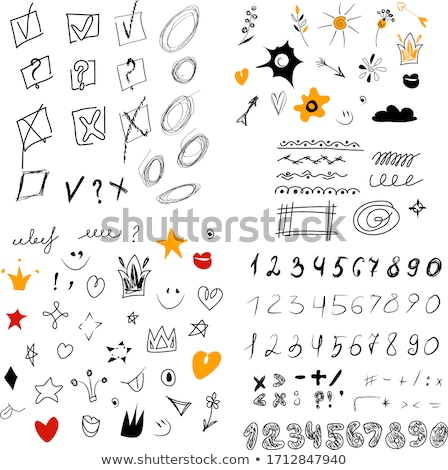 business doodles sketch set infographics elements isolated ve stock photo © davidarts