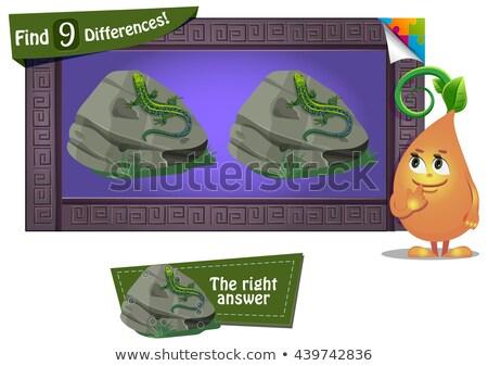 見つける 違い トカゲ ゲーム 子供 教育 ストックフォト © Olena