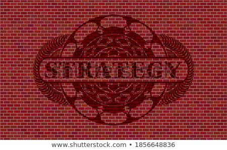 Desenvolvimento plano escuro parede de tijolos rabisco ícones Foto stock © tashatuvango