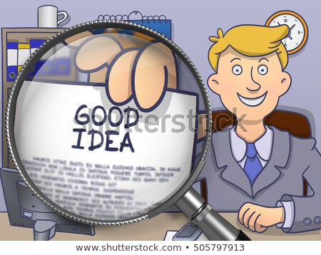 Good Idea through Magnifying Glass. Doodle Style. Stock photo © tashatuvango