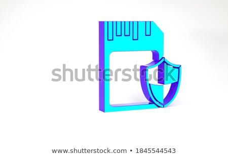 Dosya kart gizlilik 3D kelime Klasör Stok fotoğraf © tashatuvango