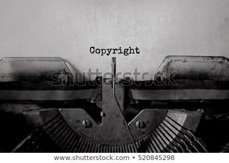 Foto stock: Direitos · autorais · símbolo · papel · ilustração · 3d · propriedade · intelectual · projeto