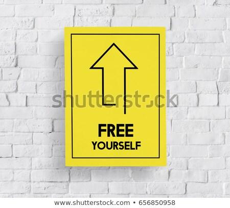just do it on white brick wall stock photo © tashatuvango