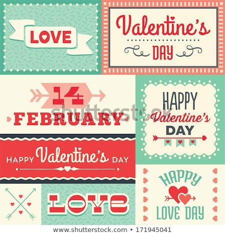 Digital vetor feliz dia dos namorados casamento celebração Foto stock © frimufilms