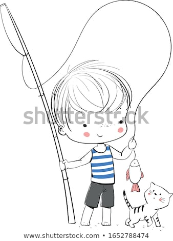 Boy on a perch Stock photo © IS2