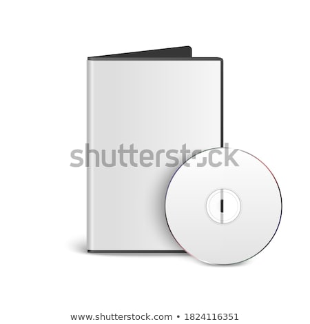 Niebieski płyta cd szablon odizolowany biały Zdjęcia stock © daboost