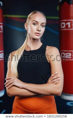 Vrouwelijke bokser permanente portret fitness Stockfoto © wavebreak_media