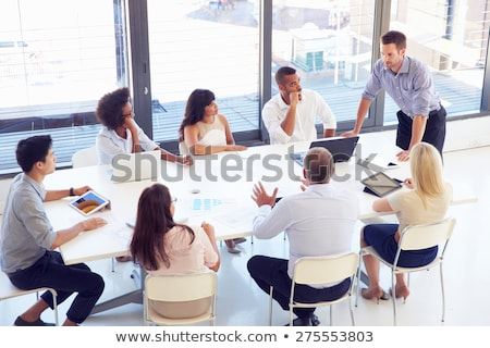 Three young women conference room Stock photo © IS2
