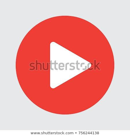 play button Icon. line style vector illustration stock photo © taufik_al_amin