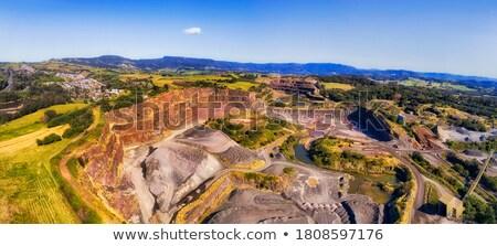 basalt extraction columns quarry Stock photo © romvo